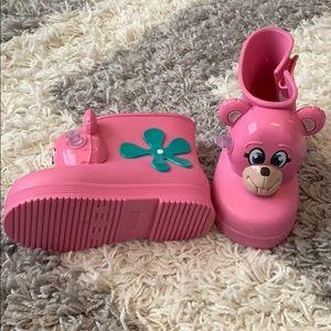 Mini Melissa Rainboots size 9 Toddler